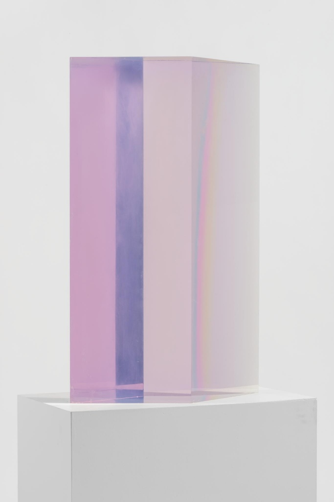 ... DeWain Valentine, Diamond Column, 1969 2014. Cast Polyester Resin
